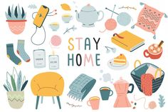 Hygge collection, indoors activities | Premium Vector Hygge, Illustration Story, Graphic Design Illustration, Design Plat, Modern Books, Isometric Design, Futuristic Furniture, Coffee And Books, Character Design