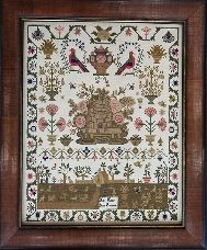 Hands Across the Sea Samplers - Miss Mary Ann Bournes 1791