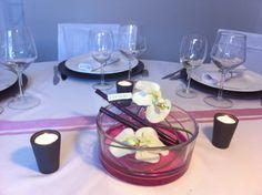 centre de table orchidées mariage
