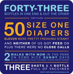 Week 9 in Numbers by smonkyou #Infographic #Baby