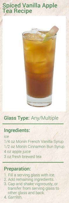 Monin Spiced Vanilla Apple Tea Recipe