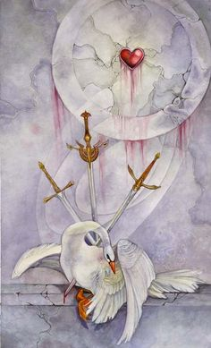 #Three of Swords www.facebook.com/madamastrology Fans get FREE Natal Chart Report -- pinned using BrowserBliss