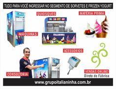 Tudo para Sorvete Expresso - Máquinas de Sorvete, Frozen Yogurt, Açaí Soft, Matéria Prima, treinamentos e Consultoria Online  - www.grupoitalianinha.com.br