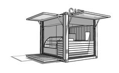 Whitecrate – Shipping Container Conversions, Up-cycled Second Life Structures available for immediate rental and purchase » 10′ Kiosk