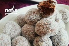 Banana Walnut Truff (Unsatisfied with Biscuits) - Eat Recipes Low Calorie Recipes, Biscuits, Deserts, Muffin, Food And Drink, Sugar, Chocolate, Eat, Breakfast
