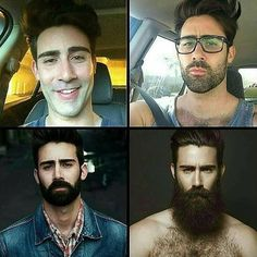 Como o tempo(barba) faz bem ao homem ! Great Beards, Awesome Beards, Beard Styles For Men, Hair And Beard Styles, Hairy Men, Bearded Men, Moustaches, Beard Before And After, Beard Growth Stages
