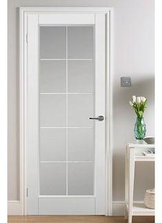 Magnet Trade - Manhattan White Leaded 10 Light Clear Glazed Grained Glass Bathroom Door, Glass Pantry Door, Pantry Doors, Door Design Interior, Home Room Design, Frosted Glass Door, Rustic Entryway, First Apartment Decorating, Aluminium Doors