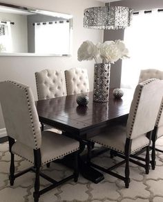 Dining room decorating idea and model home tour Elegant Dining