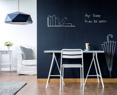 Blackboard film is a self adhesive material ideal for menus in bars and restaurants, or for the kids to draw on the kitchen. Kitchen Blackboard, Chalkboard Vinyl, Feature Walls, Blackboards, Adhesive, Cool Stuff, Room, Ideas, Home Decor