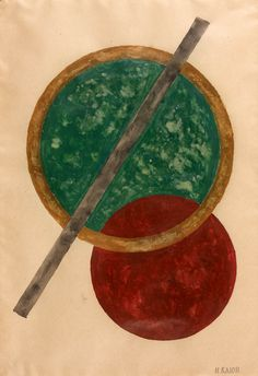 Ivan Kliun (1870-1942) Composition with red and green circles, N/D