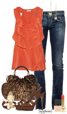 """""""tangerine spring"""" by enjoytheview on Polyvore"""
