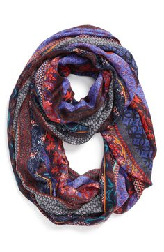 Gorgeous mixed pattern scarf for fall.
