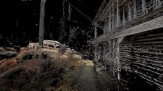 Sifted / DotSwarm -   Short film by Dan Monaghan featuring a collage of buildings using 3D pointcloud data.
