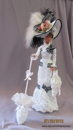 1910 Ascot Dress 'My Fair Lady' Doll by Syntryz on Etsy, $500.00