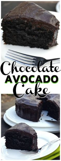 Chocolate Avocado Cake with Chocolate Avocado Buttercream - delicious, moist and rich | www.craftycookingmama.com #vegan #avocado #chocolate #chocolatecake
