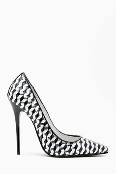 Jeffrey Campbell Darling Pump - Silver Woven | Shop Shoes at Nasty Gal