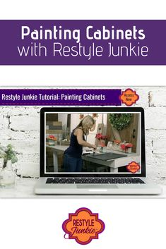 Learn how to label, prep, paint and clear coat your kitchen or bathroom cabinets like pro with General Finishes milk paint. This video has nearly 60 minutes of demonstration and instruction to ensure your successful and durable DIY project.  Painting Cabinets   Restyle Junkie   #PaintedCabinets   #KitchenRemodel   #KitchenMakeover   #BathroomMakeover   #BathroomRemodel   #DIYproject   #GeneralFinishesMilkPaint   #DIYhomeMakeover Cabinet Paint Colors, Chalk Paint Colors, Blue China Cabinet, China Cabinets, Colorful Dresser, Chalk Paint Furniture, Furniture Design, Furniture Makeover, Dresser Makeovers