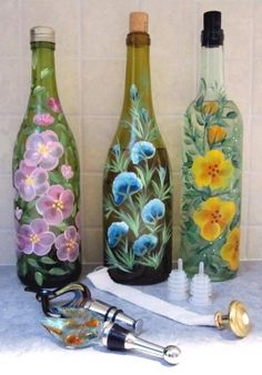 painting on bottles