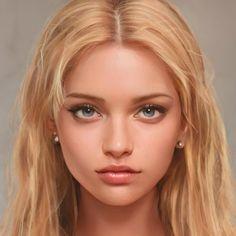Digital Art Girl, Digital Portrait, Portrait Art, Female Character Inspiration, Character Portraits, Character Aesthetic, Girl Face, Anime Art Girl, Pretty People