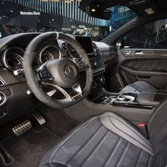 The interior of the all-new Mercedes-AMG GLE63 S Coupe seen at The North American International Auto Show.  #Mercedes #Benz #GLE63 #AMG #NAIAS #NAIAS2015 #carsofinstagram #germancars #luxury