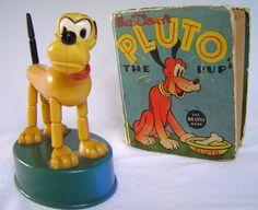 Vintage 1975 pluto push puppet