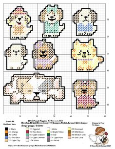 POUND PUPPIES CHIBIS FOR PLASTIC CANVAS CREATIONS