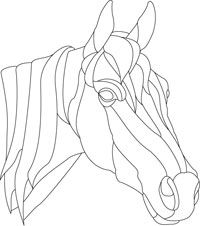 stained glass horse design pattern