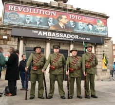 Celebrate the Centenary by paying a visit to the must see REVOLUTION 1916 The Original & Authentic Exhibition in the Ambassador Theatre O'Connell St Dublin which opens of February Dublin, Revolution, Military Jacket, Stuff To Do, Empire, Activities, The Originals, Easter Rising