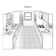 Plan de cuisine en parallèle - Marie Claire Maison