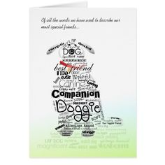 Dog Sympathy Card - Words Used to Describe our Dog