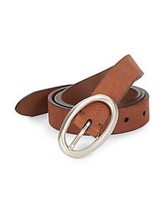 Brunello Cucinelli Pebbled Leather Belt - Brown - Size 9