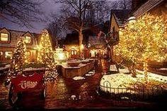 Gatlinburg,TN Christmas -The Village, my favorite spot. SO pretty at Christmas time!!