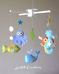Baby Mobile - Mobile - Under the Sea Mobile - Nursery Mobile. $125.00, via Etsy.