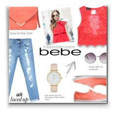 """""""All Laced Up for Spring with bebe: Contest Entry"""" by lovine ❤ liked on Polyvore featuring Bebe, Vans, Kate Spade, Monki and alllacedup"""