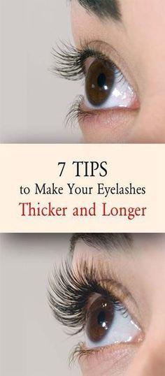 7 TIPS TO MAKE YOUR EYELASHES THICKER AND LONGER #Fakeeyelashes