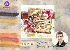 "ScrapMan: Warsztaty ""Sweet Home""- VII Ogólnopolski Zlot Scrapbookingowy Prima Marketing, Craft Projects, Crafty, Education, Cover, Floral, Books, Beautiful, Scrapbooking"