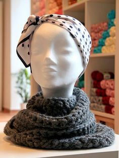Crochet infinity scarf from a very soft merino wool. Yarn Store, Merino Wool, Knit Crochet, Infinity, Winter Hats, Beanie, Knitting, Prague, Fashion