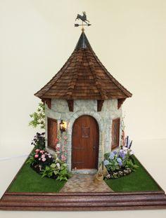 Teresa Layman Designs Miniature Garden Cottage I created in Chicago, 2014