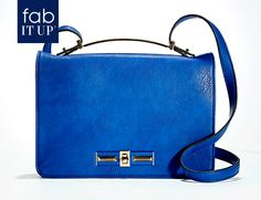 Nothing says style like a cobalt blue leather satchel with gold details. #StyledWithConfidence
