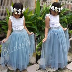 Tulle Skirt 82 Colors Dusty  blue tulle skirt,flower girl tulle skirt, dusty bluetulle skirt for flower girls,dusty bluetutu skirt Blue Tulle Skirt, Girls Tulle Skirt, Tulle Skirts, Pink Tulle, Dresses Kids Girl, Flower Girl Dresses, I Love Makeup, Blue Satin, Dusty Blue