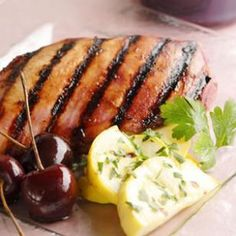 Recipe:  Grilled Chicken with Cherry-Chipotle Barbecue Sauce