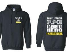Check out US Navy Wife Hoodie Navy Wife Shirt Meet Their Favorite Hero I Married Mine Hoodie Navy Girlfriend US Navy Gifts US Navy Mom Veteran 18500 on NCWDesigns