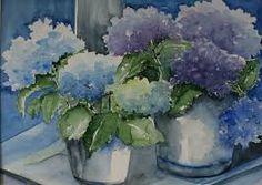 Afbeeldingsresultaat voor schilderij met hortensia