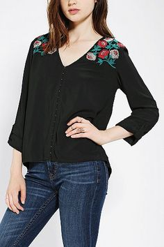 Cassette Society Cherry Baby Embroidered Tunic