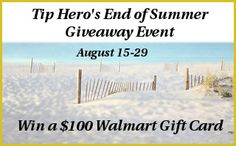 End of Summer Giveaway: Win a $100 Walmart Gift Card!