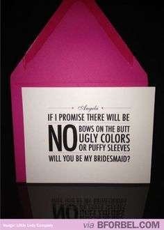 How to ask someone to be your Bridesmaid