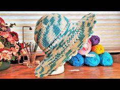 Crochet Airy Summer Sun Hat Part 1 | Lyza Walters - YouTube Easy Crochet Stitches, Crochet Granny, Double Crochet, Single Crochet, Crochet Patterns, Bird Nesting Material, Crochet Clothes, Crochet Hats, Cute Beanies