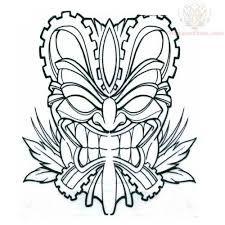 Resultado de imagen para mascara tiki dibujo