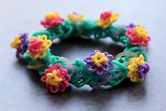 Water-Lilies-with-Reflections-Bracelet by YarnJourney, via Flickr