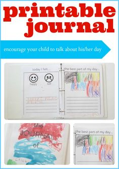 Encourage your child to share details about his/her day with these free printable journal pages!